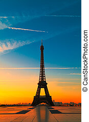 Eiffel Tower, Paris - The Eiffel Tower in Paris at dawn