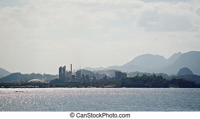 Abstract Timelapse of the Lafarge Cement Plant in Langkawi,...