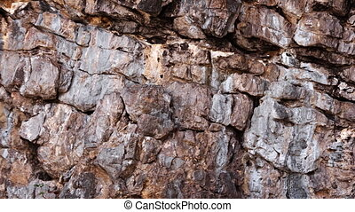 Strata of Sedimentary Rock near the Sea. Video 1080p -...