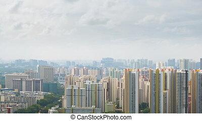 Dramatic Urban Skyline on a Hazy Day. 1080p FullHD footage -...
