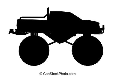 Silhouette of a monster truck - Computer generated 2D...