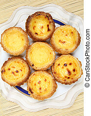 Portugese pastries - pasteis de nata. Delicious home made...