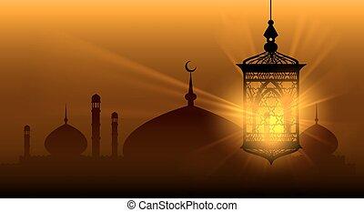 Arabian nights ramadan kareem islamic background ramadane...