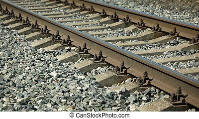 Railroad Tracks over a Coarse Gravel Bed. - Railroad Tracks...
