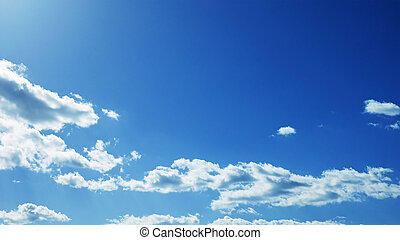 Partly cloudy weather sky - Cloudscape of cumulus clouds...