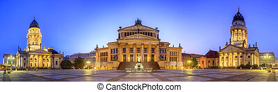View of Gendarmenmarkt square and Concert hall - View of...