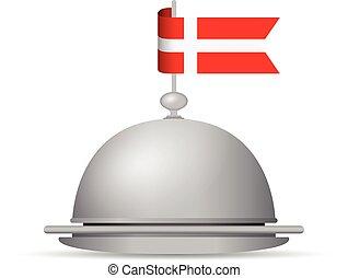 denmark flag dinner platter