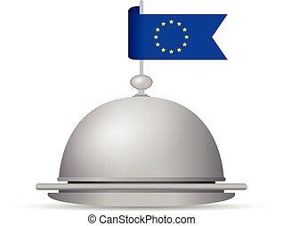 european flag dinner platter