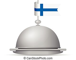 finland flag dinner platter