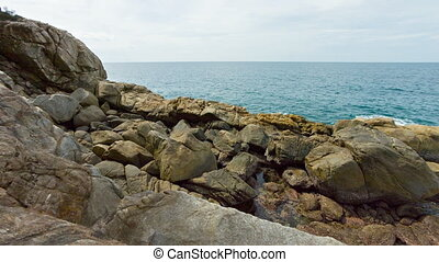 Phuket Island. Rocks on the seashore.