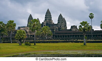 Cambodia, Angkor Wat. Shot with a horizontal panning