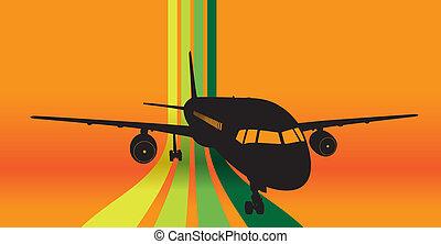 takeoff - plane taking off