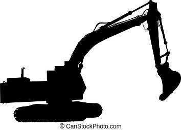 machinery - silhouette of machinery