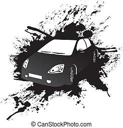 car - splashed car