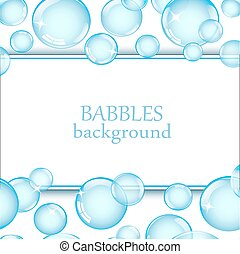 background with soap bubbles - square background with shiny...