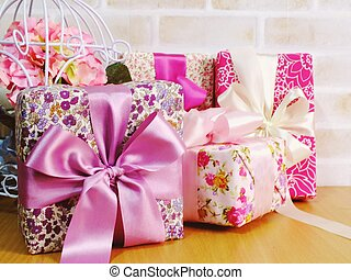 pink gift box collection for valentine's day and mother's day