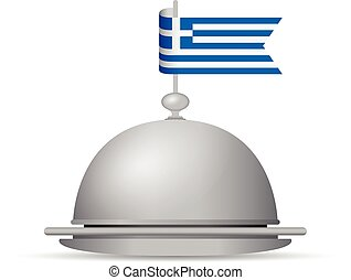greek flag dinner platter