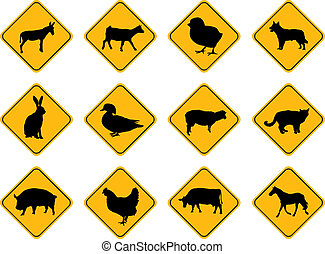 farm animals - farm animal signs