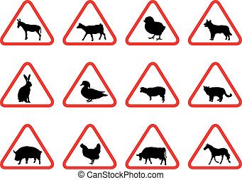 farm animals - farm animal warning signs