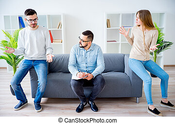 Young couple arguing