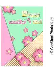PaperCut Mother 01 - Vector Illustration of pop-up book for...