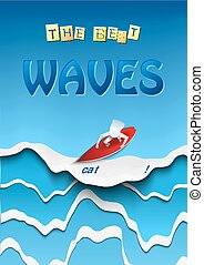 PaperCut Wave 05 - Vector Illustration of pop-up book for...