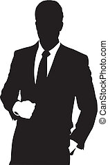 man - silhouette of a man in a suit