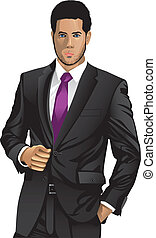 business man - a business people
