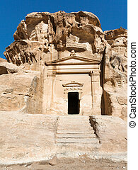 ancient tomb in Little Petra town