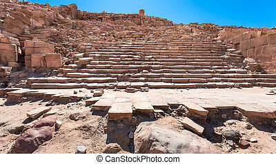 steps in ancient Great Temple in Petra town