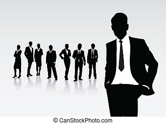 business people - group of business people