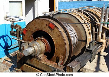 capstan winch of trawlerfishing boa - capstan winch of...