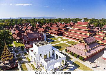 Mandalay Palace.Myanmar - Mandalay Palace at day . Myanmar...