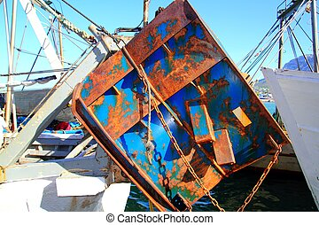 Trawler boat tackle plates downrigger destroy the seabed
