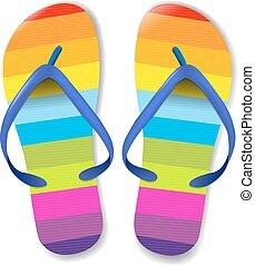 Flip Flops, With Gradient Mesh, Vector Illustration