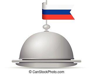 russian flag dinner platter