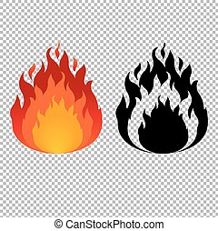 Fire Symbol, Vector Illustration