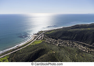 Leo Carrillo State Beach Malibu California Aerial - Aerial...