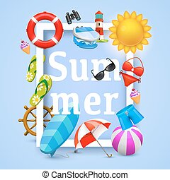 Summer cover design elements. Vector illustration background. Happiness concept.