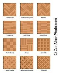 Parquet Floor Pattern Set Parquetry - Parquet pattern chart...