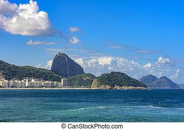 Copacabana beach - Copacabana Beach in Rio de Janeiro with...