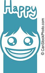 cool happy face design - creative design of happy face