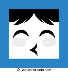 cuddly face icon - creative design of cuddly face icon