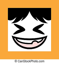 funny naughty expression icon - design of funny naughty...