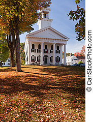 Windham Court house in Fall - Autumnal shot of the Windham...