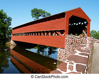 Sachs Mill Bridge - Sachs Mill Covered Bridge located in...
