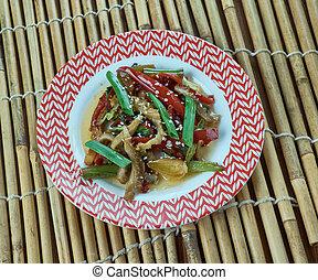 tripa, frito, chino