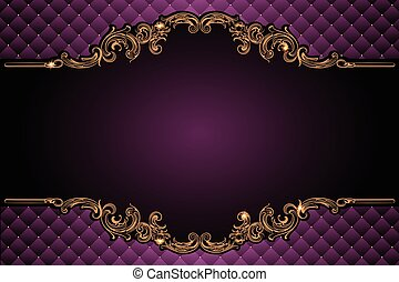 Luxury vector frame with border in rococo style