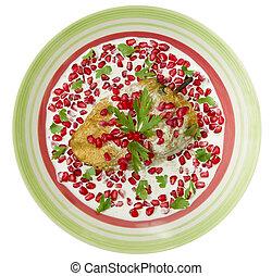 Chile Nogada Mexican Dish Top View - Chile en Nogada Mexican...
