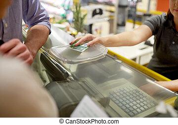 betalare, specerier, pengar, par,  register, kontanter, lager